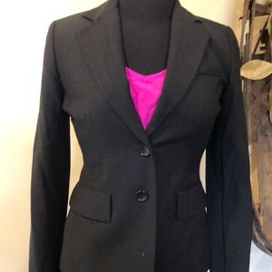 Ann Taylor wool pinstripe blazer
